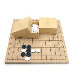 囲碁セット 9・13路碁盤とミニ角ケースとスワブテ蛤碁石花印20号(特別価格) igolabo