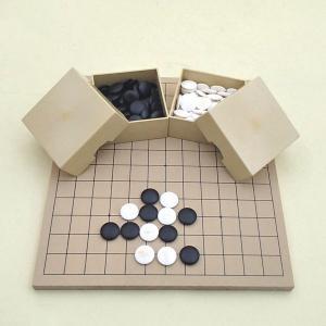 囲碁セット 9・13路碁盤とミニ角ケースと蛤碁石徳用22号|igolabo