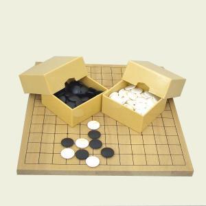 囲碁セット 9・13路碁盤とミニ角ケースと蛤碁石実用22号|igolabo