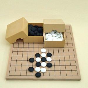 囲碁セット 9・13路碁盤とミニ角ケースと硬質ガラス竹(9mm)|igolabo