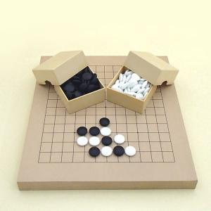 囲碁セット 9・13路碁盤とミニ角ケースと蛤碁石徳用28号|igolabo