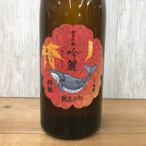 日本酒 高知 酔鯨 純米吟醸 吟麗 秋あがり白露 ーはくろー 720ml(ひやおろし・秋あがり)|igossou-sakaya