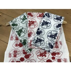 豊能梅 オリジナル てぬぐい(赤) igossou-sakaya