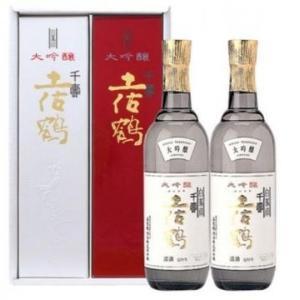 日本酒 高知 土佐鶴 大吟醸 白鳳印千寿 紅白セット  720ml 二本入りセット  お中元 夏ギフト|igossou-sakaya