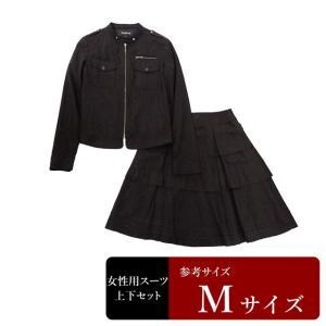 SANYO製 スーツ レディース 9号程度/Mサイズ程度 スカートスーツ レディーススーツ 女性用/中古/訳あり/WCCT05|igsuit