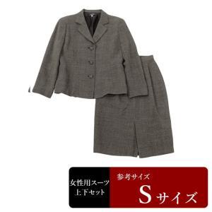 レナウン製 スーツ レディース 9号程度/Sサイズ程度 スカートスーツ レディーススーツ 女性用/中古/訳あり/064/WCCX09|igsuit