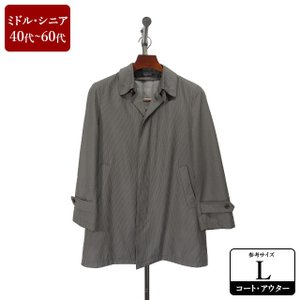 Gently Chic コート メンズ Lサイズ ロングコート メンズコート 男性用/40代/50代/60代/ファッション/中古/春秋コート/XEFF02|igsuit