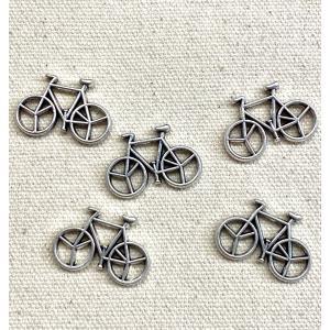メタル チャーム 自転車 5個 DM便OK|iguchi-co-ltd
