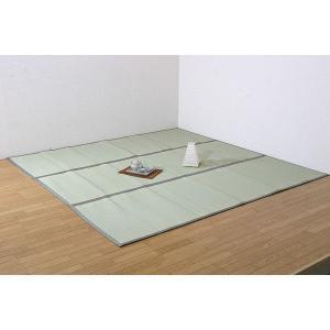 上敷きカーペット(裏面:ウレタン張り加工) F浜名 江戸間6畳(261×352cm) 国産 井草 い草ラグ カットできる 畳上敷き|igusakotatu
