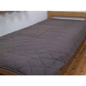 敷きパッド 「マドラス」 セミダブルサイズ 敷きパット 無地 シンプル|igusakotatu