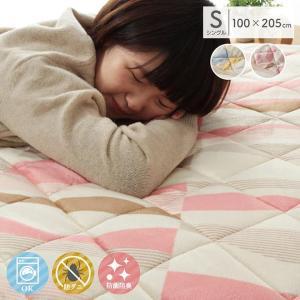 敷きパッド シングル「プリート」敷パッド ib 約100×205cm 短毛 春用 新生活 寝具