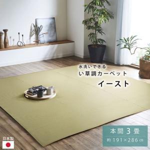 ポリプロピレンカーペット 「イースト」 本間3畳 (約191×286cm)  ラグ 洗える 野外 屋外 ビニールカーペット igusakotatu