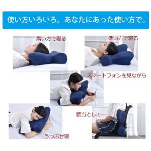 いびき解消枕 機能性 いびき防止枕 快眠 まくら 仰向け寝 横向き寝 うつぶせ寝 腰当 肩こり 低反発 (tm)|igusakotatu|06