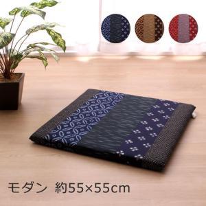 ●和風モダンなデザインの座布団をお求め安いでのご提供です。 ・表面は綿100%の柔らかな肌触り。 ・...