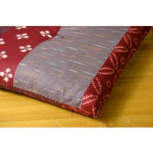 ふんわり小座布団 モダン 約40×40cm 和風 綿100% 国産 和柄 おしゃれ 椅子用 (ib)|igusakotatu|05