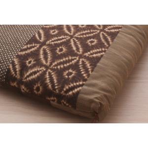 ふんわり小座布団 モダン 約40×40cm 和風 綿100% 国産 和柄 おしゃれ 椅子用 (ib)|igusakotatu|07