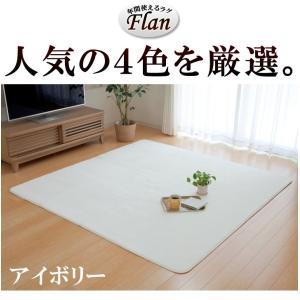 ラグカーペット「フラン」(tm) 130×185cm(約1.5畳) ホットカーペットカバー 1.5畳 シンプル フランネル ラグ カーペット 長方形 床暖房 電気カーペット|igusakotatu|03