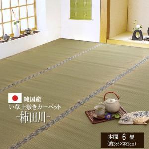 い草上敷き 垣北川 本間6畳(286×382cm) 日本製 国産 畳上敷き ござ|igusakotatu