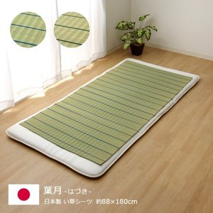 寝ござ い草シーツ「葉月」 シングル:88×180cm い草...
