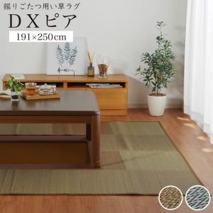 掘りごたつ用カーペット い草ラグ DXピア 191×250cmくりぬき:90×120cm い草カーペット 夏用の写真