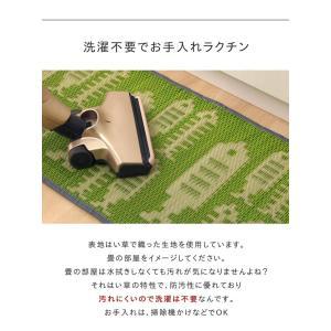 キッチンマット 選べるい草のキッチンマット 約43×120cm おしゃれ 夏用 お花畑 おさかな チェック プチブロック 日本製 120cm|igusakotatu|02