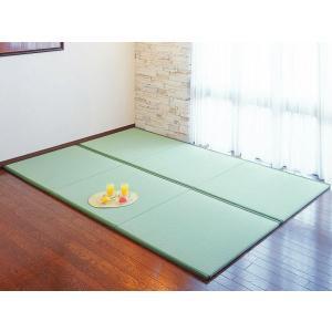 置き畳・ユニット畳「楽座」 約95.5×95.5cm 入り数:9枚セット(半畳タイプ) フローリング ユニット畳 イグサ|igusakotatu