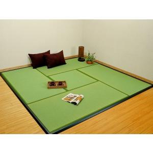 置き畳・ユニット畳「楽座」 約95.5×95.5cm 入り数:9枚セット(半畳タイプ) フローリング ユニット畳 イグサ|igusakotatu|04