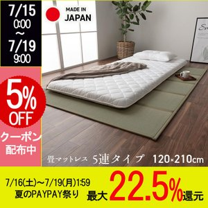 マットレス セミダブル 日本製 畳 「夢見畳3」 セミダブル(120×210cm) 国産 置き畳 い草 敷物 寝具 イ草 自然素材 和 日本 敷き物 三つ折り(tm)の写真