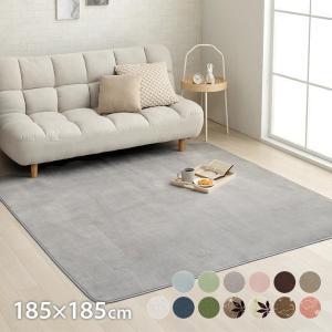 カーペット 2畳 「WSセリゼ」 約185×185cm ホットカーペットカバー 2畳用 抗菌 防臭 シンプル フランネル ラグ カーペット 正方形 床暖房対応(tm)|igusakotatu