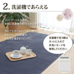 カーペット 2畳 「WSセリゼ」 約185×185cm ホットカーペットカバー 2畳用 抗菌 防臭 シンプル フランネル ラグ カーペット 正方形 床暖房対応(tm)|igusakotatu|03