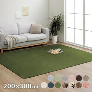 カーペット 4畳 「WSセリゼ」 約200×300cm 4畳用 抗菌 防臭 洗える シンプル フランネル ラグ カーペット 長方形 床暖房対応(tm)|igusakotatu