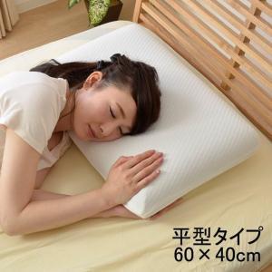 低反発枕 平型 抗菌防臭 竹炭入まくら 約60×40×13cm モールド枕 低反発 ウレタン 新生活 耐圧分散 カバー付き ピロー 平枕 (tm)|igusakotatu
