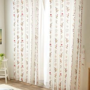 カーテン 子ども部屋 洗える Birdieものしりカーテン UNI(既製品) 選べる3柄・10サイズ展開 ドレープ 幅100cm 幅150cm|igusakotatu