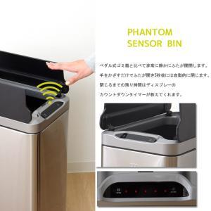 ごみ箱 分別 センサー付きゴミ箱EKO 20L+20L ステンレス 蓋付き おしゃれ キッチン センサー式  人気 ダストボックス リビング ダイニング IT|igusakotatu|02