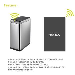 ごみ箱 分別 センサー付きゴミ箱EKO 20L+20L ステンレス 蓋付き おしゃれ キッチン センサー式  人気 ダストボックス リビング ダイニング IT|igusakotatu|03