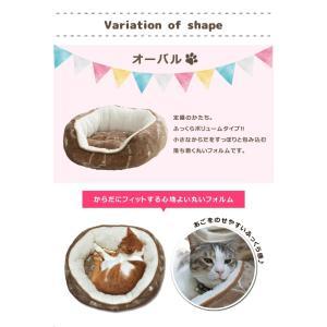 ペットベッド 猫 猫用 ツインクルキャット 選べる3種類 オーバル キューブ テント フランネル にくきゅう 肉球 IT-tm|igusakotatu|10