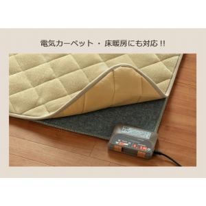 キルトラグ 正方形 「フラン」 190×190cm こたつ敷き布団 正方形 ラグ シンプル キルト カーペット フランネル 暖かい 床暖房対応 ラグ|igusakotatu|11