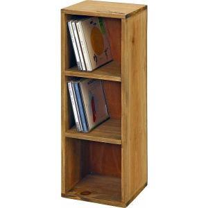 収納 本棚 木製3段ボックス 16×16×46.5 2色|igusakotatu