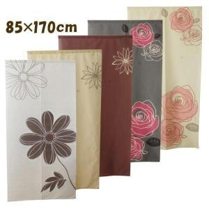 のれん 暖簾 選べる花柄 85×170cm のれん おしゃれ ロング丈 暖簾 ノレン タペストリー 北欧 バラ フラワー|igusakotatu
