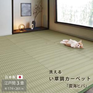 ポリプロピレンカーペット 「雲海」 江戸間3畳(174×261cm) ラグ 洗える 撥水 野外 屋外 ビニールカーペット 軽量 シンプル