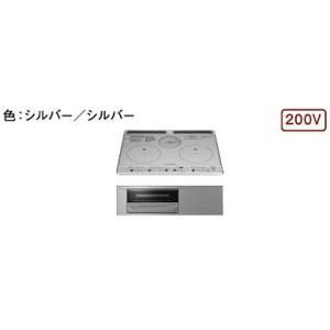 日立製(TOCLAS)BHTK6KK 2口IH+ラジエントヒーター ▽IHクッキングヒーター 〔納期約2週間〕|ih-heater