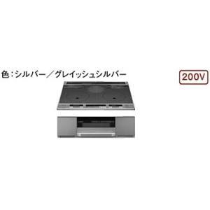 パナソニック製(TOCLAS)CHAST6G 2口IH+ラジエントヒーター ▽IHクッキングヒーター 〔納期約2週間〕|ih-heater