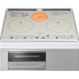 日立製(NORITZ)HT-K60SS 2口IH+ラジエント ガラストップタイプ ▽IHクッキングヒーター|ih-heater