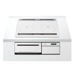 日立製(HITACHI)HT-M200XTF(W) 幅60cm パールホワイト 3口IH オールメタル対応 ▽IHクッキングヒーター ih-heater