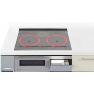 パナソニック製(Panasonic)LESW163SK 2口IH+ラジエント 鉄・ステンレス対応 ▽IHクッキングヒーター 〔納期約2週間〕 ih-heater