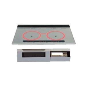 パナソニック製(WOODONE)UDIP001-7N-VV シルバー 3口IH シングルオールメタル ▽IHクッキングヒーター ih-heater