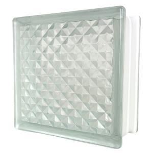 6個セット 送料無料 ガラスブロック 世界で有名なブランド品 厚み95mmクリア色花のパターンgb0195-6p ihome