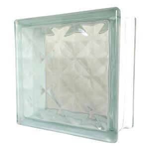 ガラスブロック 日本基準サイズ 世界で有名なブランド品 厚み95mmクリア色宝石ラインgb0295|ihome