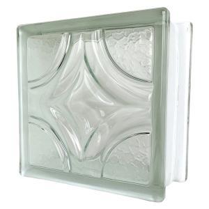 6個セット 送料無料 ガラスブロック 世界で有名なブランド品 厚み95mmクリア色菱形パターンgb0495-6p ihome