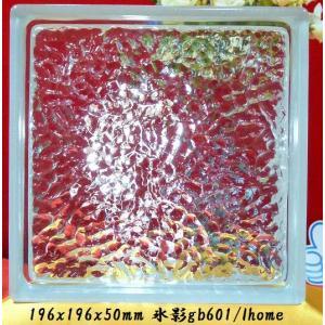 ガラスブロック EU基準サイズ 世界で有名なブランド品 厚み50mmクリア色氷影gb601|ihome